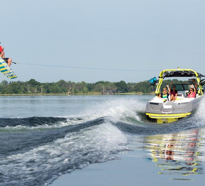 Holowanie narciarza wodnego - kurs